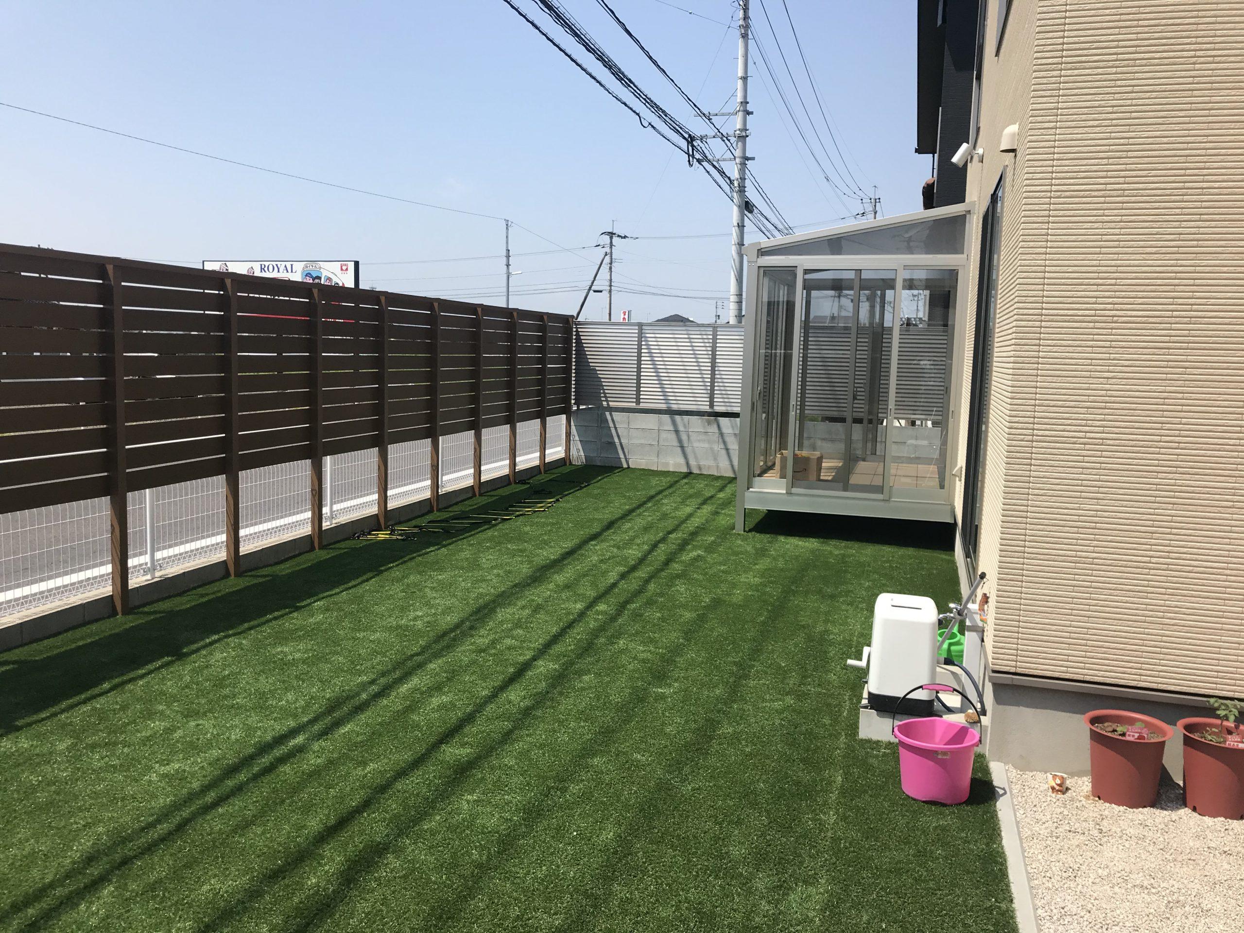 人工芝、フェンス工事