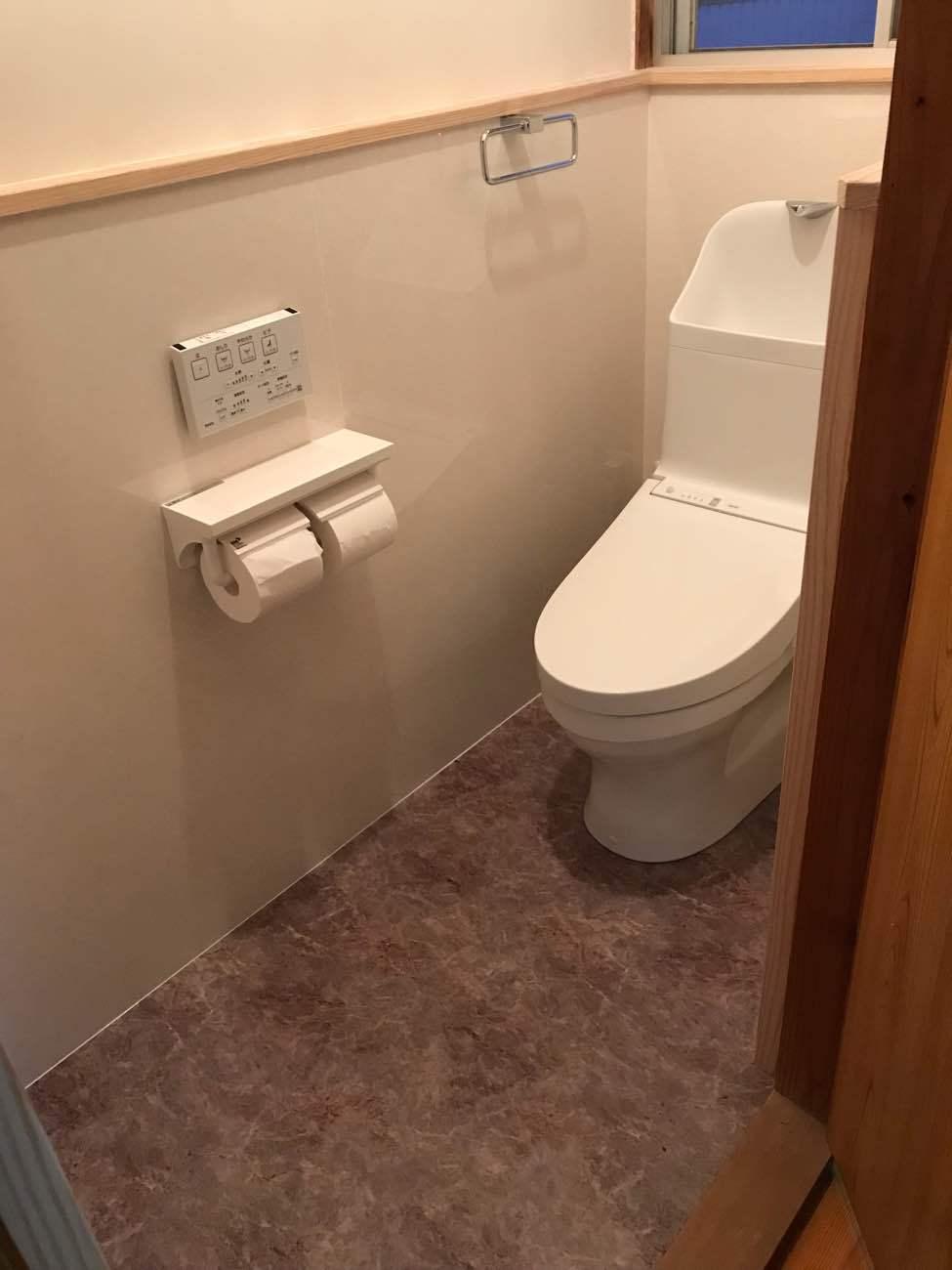 和式からウォシュレット付のトイレに  #唐津