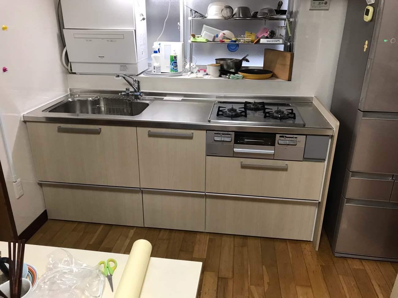 システムキッチンに交換  #唐津市