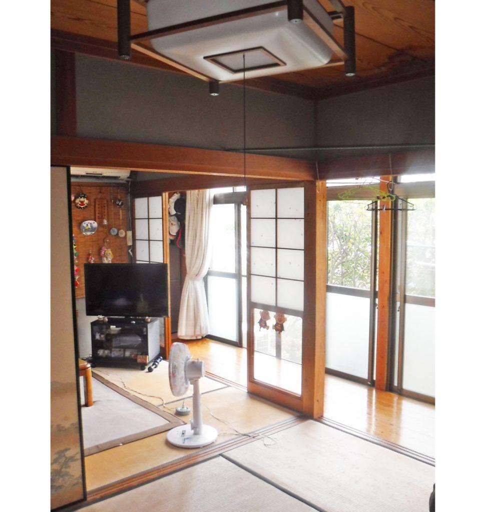 2間続き和室に広縁がつながり、使用頻度が少なくなったスペース