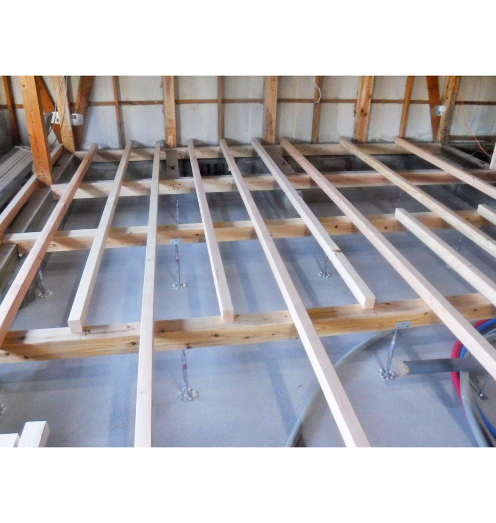 床下湿気がひどかった為、湿気対策、カビ防止で 防湿コンクリート施工