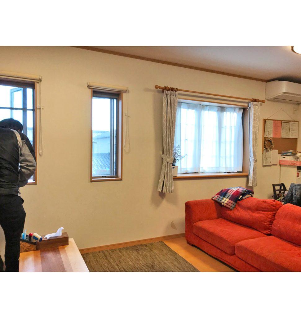 2階のリビングは出窓が付いていましたが、開放感が 無いとのことで改善したいと思われていました。