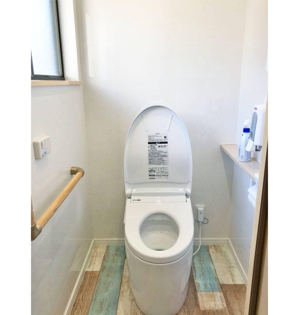 全自動の洋式トイレに。
